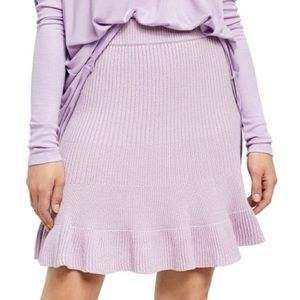 """Free People """"solid gold"""" knit skirt in purple"""